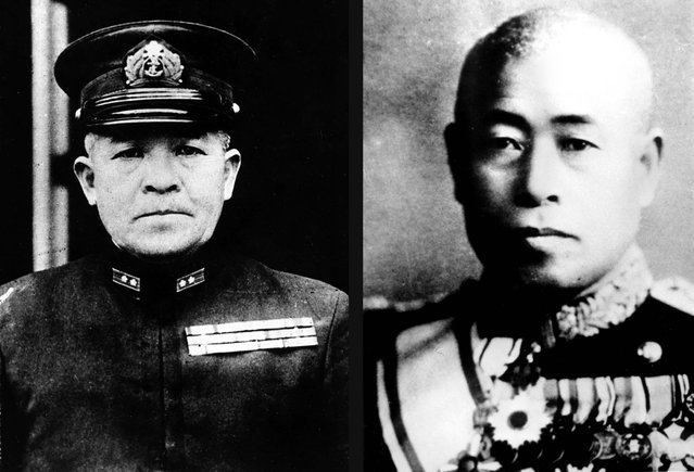 Japanese Vice-Admiral Chuichi Nagumo (left) commanded the Japanese combined air and sea power at Pearl Harbor. He was born in 1886 and committed suicide in July 1944.  Admiral Isoroku Yamamoto (right) was the commander of Japan's Combined Fleet and planned the attack on Pearl Harbor. He was gunned down by the U.S. Army Air Force while inspecting the Northern Solomon Islands on April 18, 1943. Yamamoto was born in Japan in 1884 and studied at Harvard University in the U.S. (Photo by Associated Press)