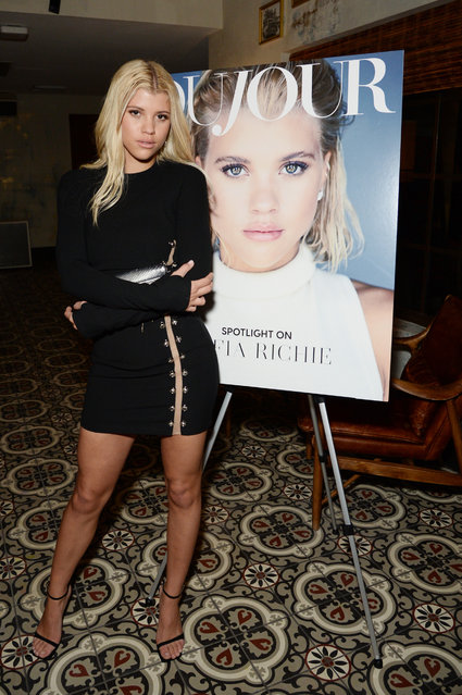 Sofia Richie attends DuJour's Jason Binn And WellNEST Celebrate Miami Beach's Art Basel Kick-Off at The Confidante on December 6, 2017 in Miami Beach, Florida. (Photo by Andrew Toth/Getty Images for Dujour)