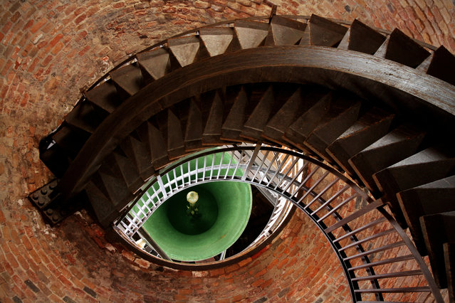 """Eye of the Tower"" by Mehmet Yasa; Verona, Italy. ""The staircase and the bell looks like an eye. Architecture can fascinate us in many ways"". (Photo by Mehmet Yasa/Art of Building Photography Awards 2017)"
