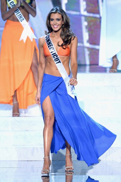 Miss Connecticut USA Erin Brady competes in the swimwear competition during the 2013 Miss USA pageant at PH Live at Planet Hollywood Resort & Casino on June 16, 2013 in Las Vegas, Nevada. Brady went on to be crowned the new Miss USA  (Photo by Ethan Miller)