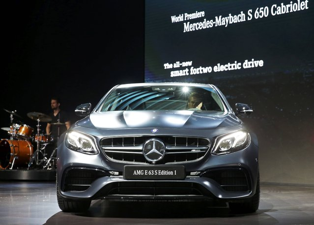Mercedes introduces the 2017 Mercedes-AMG E 63 S 4MATIC+ Edition 1 at the 2016 Los Angeles Auto Show in Los Angeles, California, U.S November 16, 2016. (Photo by Lucy Nicholson/Reuters)