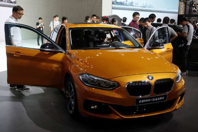 A BMW 1 Series is shown at China (Guangzhou) International Automobile Exhibition in Guangzhou, China November 18, 2016. (Photo by Bobby Yip/Reuters)