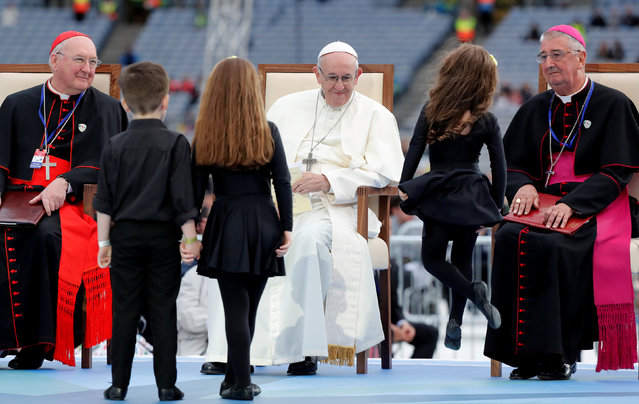 Pope Francis attends the Festival of Families at Croke Park during his visit to Dublin, Ireland, Ireland, August 25, 2018. (Photo by Stefano Rellandini/Reuters)