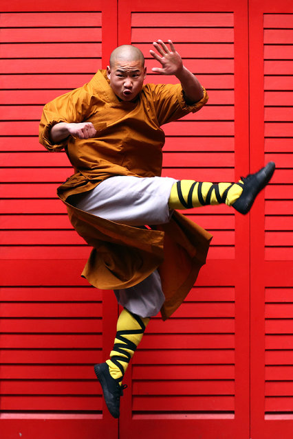 A Shaolin monk poses for a photograph in Chinatown on February 23, 2015 in London, England. (Photo by Carl Court/Getty Images)