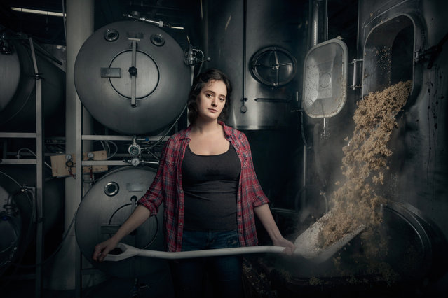 Christina Burris, a brewer and operations manager at St Benjamin's Brewing in Philadelphia, Pennsylvania. (Photo by Chris Crisman/The Guardian)
