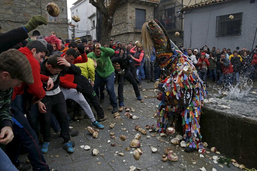 Spanish Town Celebrates Bizarre Turnip-Throwing Festival