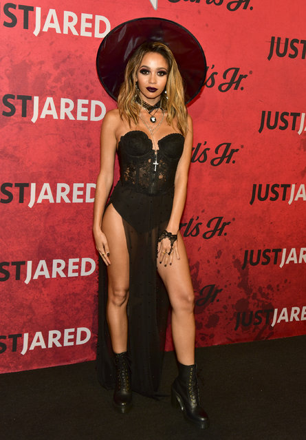 Vanessa Morgan attends Just Jared's 7th Annual Halloween Party at Goya Studios on October 27, 2018 in Los Angeles, California. (Photo by Rodin Eckenroth/Getty Images)