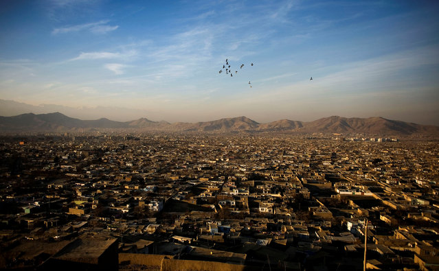 Birds fly over as the sun sets in Kabul, Afghanistan December 30, 2009. (Photo by Marko Djurica/Reuters)