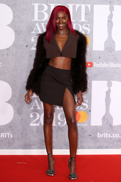 Leomie Anderson attends The BRIT Awards 2019 held at The O2 Arena on February 20, 2019 in London, England. (Photo by Mike Marsland/WireImage)