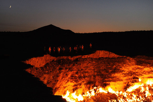 The door to hell. (Photo by William Keeping/Caters News)