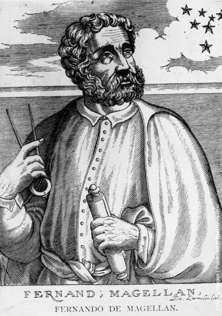 Circa 1510, Portuguese navigator and explorer Ferdinand Magellan (1480 - 1521), the first man to circumnavigate the globe and the first European to cross the Pacific Ocean