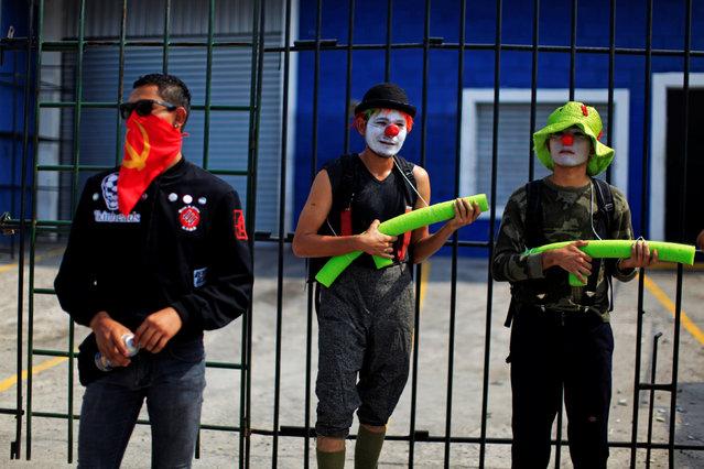 Demonstrators participate in the May Day march in San Salvador, El Salvador May 1, 2016. (Photo by Jose Cabezas/Reuters)