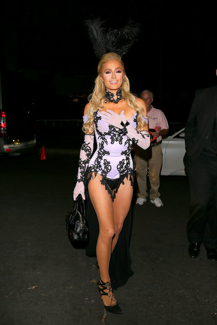 Paris Hilton is seen outside of the 2019 Casamigos Halloween Party on October 25, 2019 in Beverly Hills, California. (Photo by JB Lacroix/GC Images)