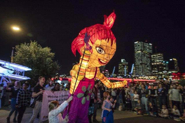 The Luminous Lantern Parade on June 10, 2016 in Brisbane, Australia. (Photo by Glenn Hunt/Getty Images)