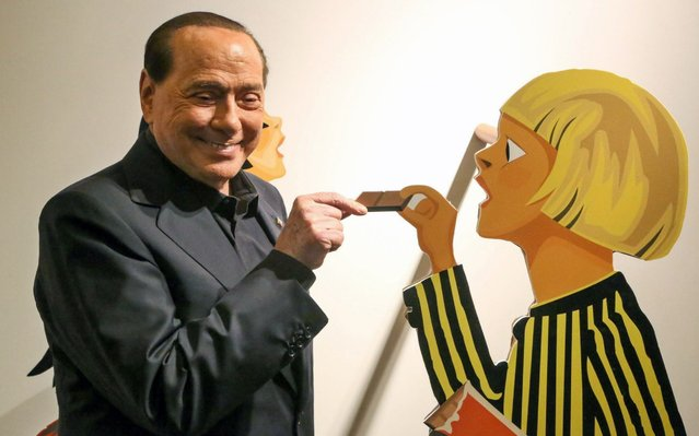 President of Forza Italia party, Silvio Berlusconi visits a chocolate laboratory during the Eurochocolate Festival in Perugia, central Italy, 18 October 2019. The annual chocolate festival this year runs from 18 to 27 October. (Photo by Matteo Crocchioni/EPA/EFE)