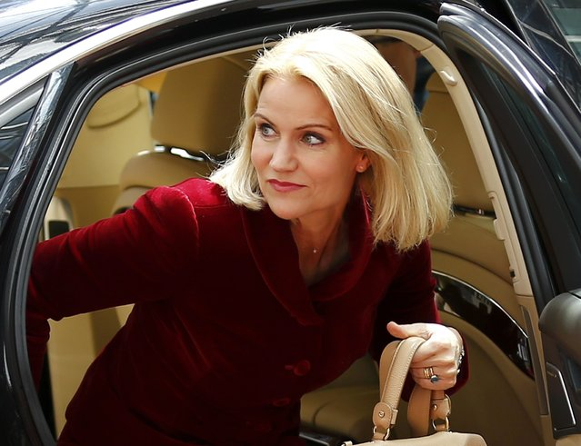 Denmark's Prime Minister Helle Thorning Schmidt arrives at the European Union (EU) Council headquarters at the start of an EU leaders summit in Brussels, Belgium, June 25, 2015. (Photo by Darren Staples/Reuters)