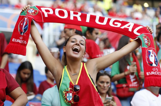 Football Soccer, Portugal vs Wales, EURO 2016, Semi Final, Stade de Lyon, Lyon, France on July 6, 2016. Portugal fan before the game. (Photo by John Sibley/Reuters/Livepic)