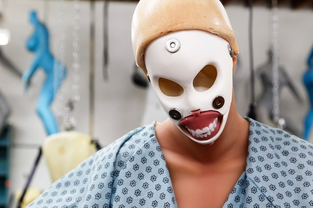 This is the substructure of a face for a Real Doll in the factory at Abyss Creations on Tuesday, September 12, 2017 in San Marcos, California. Faces are held on by magnets and can be changed. (Photo by Eduardo Contreras/San Diego Union-Tribune via ZUMA/Rex Features/Shutterstock)