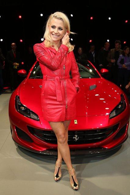 Pixie Lott attends the UK launch of the Ferrari Portofino at Kensington Olympia on November 29, 2017 in London, England. (Photo by David M. Benett/Dave Benett/Getty Images)