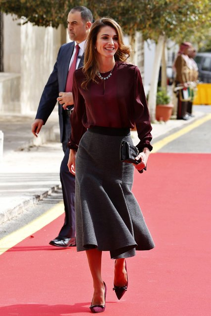 Jordan's Queen Rania arrives for the opening of the 17th Parliament's second ordinary session in Amman November 2, 2014. (Photo by Muhammad Hamed/Reuters)