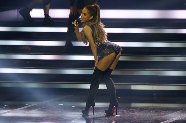 Ariana Grande performs during the Bambi 2014 media awards ceremony in Berlin November 13, 2014. The annual Bambi awards honours celebrities from the world of entertainment, literature, sports and politics. (Photo by Fabrizio Bensch/Reuters)