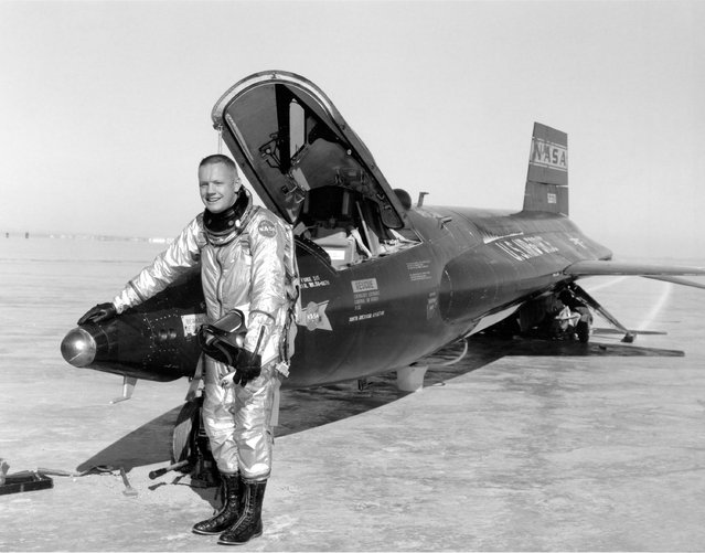 Test Pilot Neil Armstrong and the X-15 #1, on January 1st, 1960. (Photo by NASA)