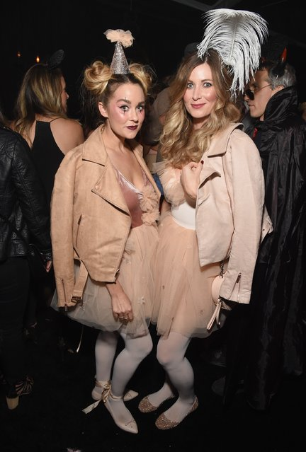 Lauren Conrad (L) and guest attend the Casamigos Halloween Party at a private residence on October 28, 2016 in Beverly Hills, California. (Photo by Michael Kovac/Getty Images for Casamigos Tequila)