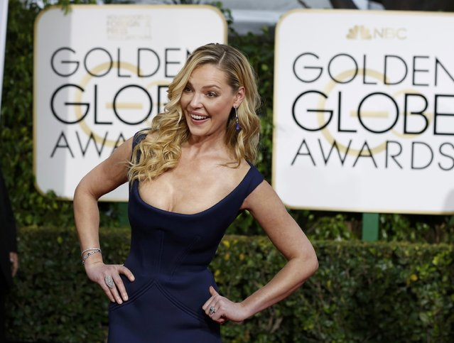 Actress Catherine Heigl arrives at the 72nd Golden Globe Awards in Beverly Hills, California January 11, 2015. (Photo by Mario Anzuoni/Reuters)
