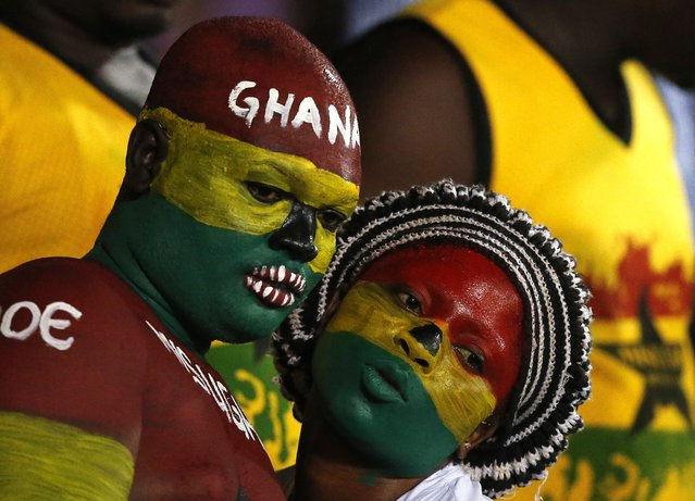 Ghana fans await the start of their team's Group C soccer match against South Africa at the 2015 African Cup of Nations in Mongomo January 27, 2015. (Photo by Mike Hutchings/Reuters)