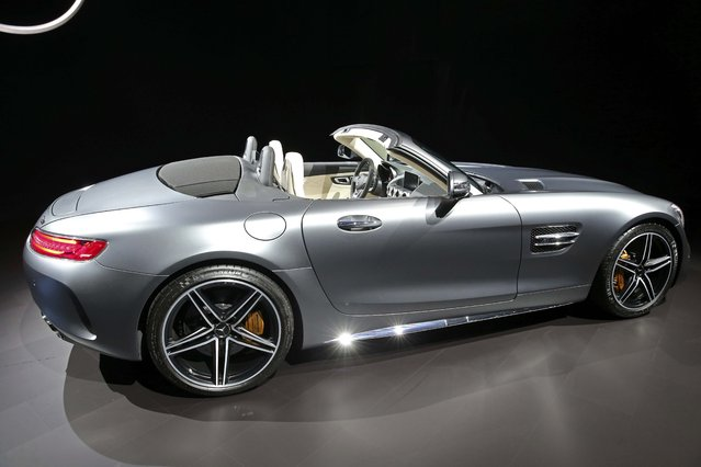 Mercedes introduces the 2017 AMG GT C Roadster at the 2016 Los Angeles Auto Show in Los Angeles, California, U.S November 16, 2016. (Photo by Lucy Nicholson/Reuters)