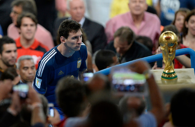 Special Merit Award. Not Today (2014). Lionel Messi looks wistfully at the trophy following Argentina's defeat to Germany in the World Cup final. (Photo by Daria Isaeva/World Sports Photography Awards 2021)