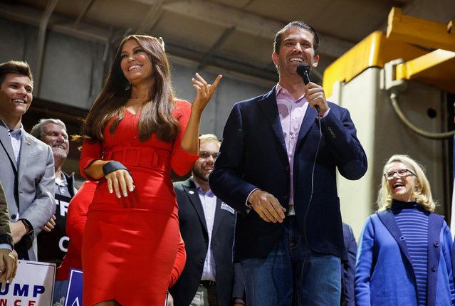 Donald Trump, Jr. and Kimberly Guilfoyle campaign for Republican senate nominee Patrick Morrisey and Republican candidate for the House of Representatives Carol Miller at Phillips Machine Service in Beckley, West Virginia on November 5, 2018. (Photo by Joshua Roberts/Reuters)
