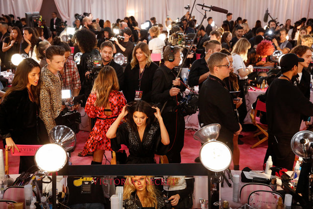 The backstage area of the Victoria's Secret fashion show is seen in the Manhattan borough of New York City, U.S., November 8, 2018. (Photo by Caitlin Ochs/Reuters)