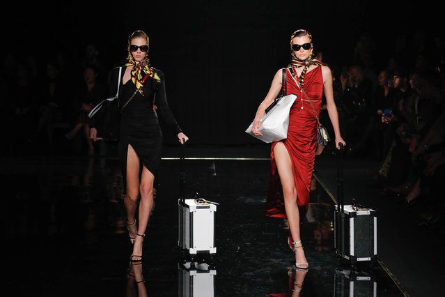 Models walk the runway at the Versace Pre-Fall 2019 Collection at The American Stock Exchange on December 02, 2018 in New York City. (Photo by JP Yim/Getty Images)