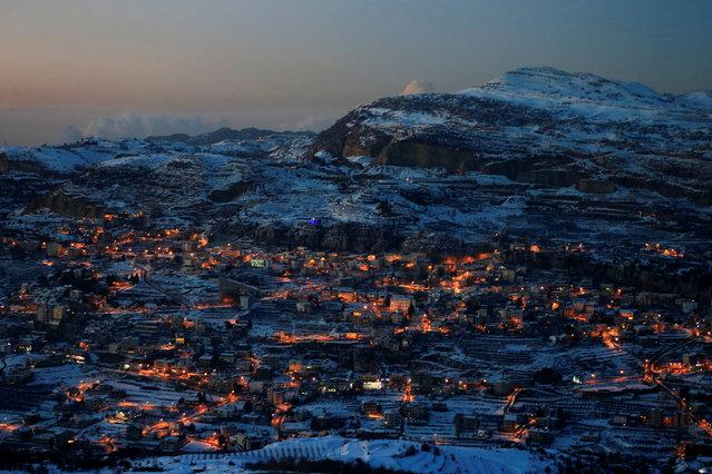 Snow covers Faraya village on Mount Lebanon January 12, 2017. (Photo by Jamal Saidi/Reuters)