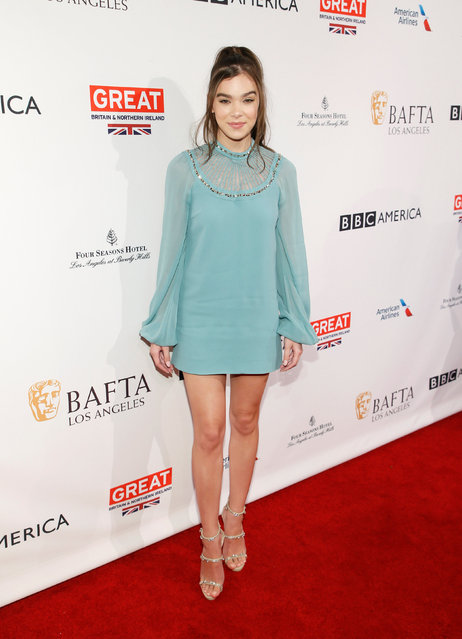 Actor Hailee Steinfeld poses at the BAFTA Los Angeles Awards Season Tea Party in Los Angeles, California, January 7, 2017. (Photo by Danny Moloshok/Reuters)