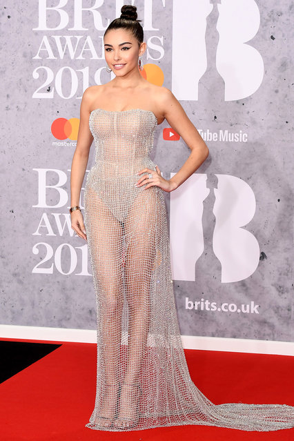 Madison Beer attends The BRIT Awards 2019 held at The O2 Arena on February 20, 2019 in London, England. (Photo by Jeff Spicer/Getty Images)
