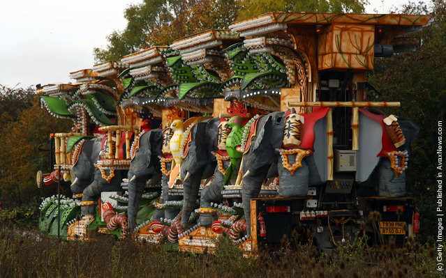 Enthusiasts Unveil Their Carts In Bridgewater Ahead Of The World's Largest Illuminated Carnival in Bridgwater, England