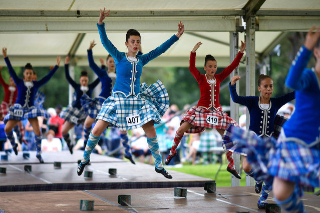 Highland dancers take part in the Inveraray Highland Games on July 16, 2019 in Inverarary, Scotland. (Photo by Jeff J. Mitchell/Getty Images)