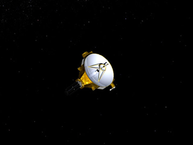 An artist's impression of NASA's New Horizons spacecraft, currently en route to Pluto, is shown in this handout image provided by NASA/JHUAPL. (Photo by Reuters/NASA/Johns Hopkins University Applied Physics Laboratory/Southwest Research Institute)