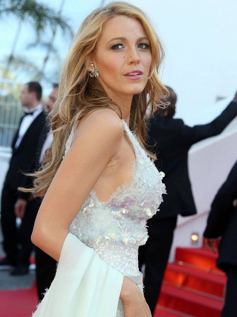 """Blake Lively attends the Premiere of """"Mr. Turner"""" at the 67th Annual Cannes Film Festival on May 15, 2014 in Cannes, France. (Photo by Michel Dufour/Getty Images)"""