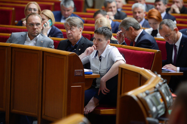 Ukrainian pilot and MP Nadiya Savchenko attends a session of the parliament in Kiev, Ukraine, May 31, 2016. (Photo by Andrew Kravchenko/Reuters)