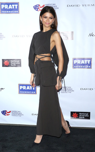 Actress Zendaya attends the 2020 AAA Arts Awards at Skylight Modern on January 30, 2020 in New York City. (Photo by Jim Spellman/WireImage)