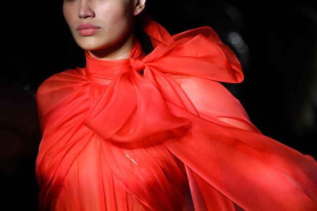 A model presents a creation from the Brandon Maxwell Fall/Winter 2020 collection during fashion week in New York, U.S., February 8, 2020. (Photo by Idris Solomon/Reuters)