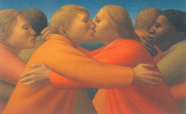 Embrace of Peace. Artwork by George Tooker