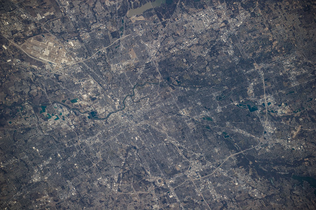 One of the Expedition 34 crew members took advantage of clear skies over Indianapolis, Indiana on February 25, 2013, and captured this image of the capital city from a point some 240 miles above Earth. (Photo by NASA/The Atlantic)