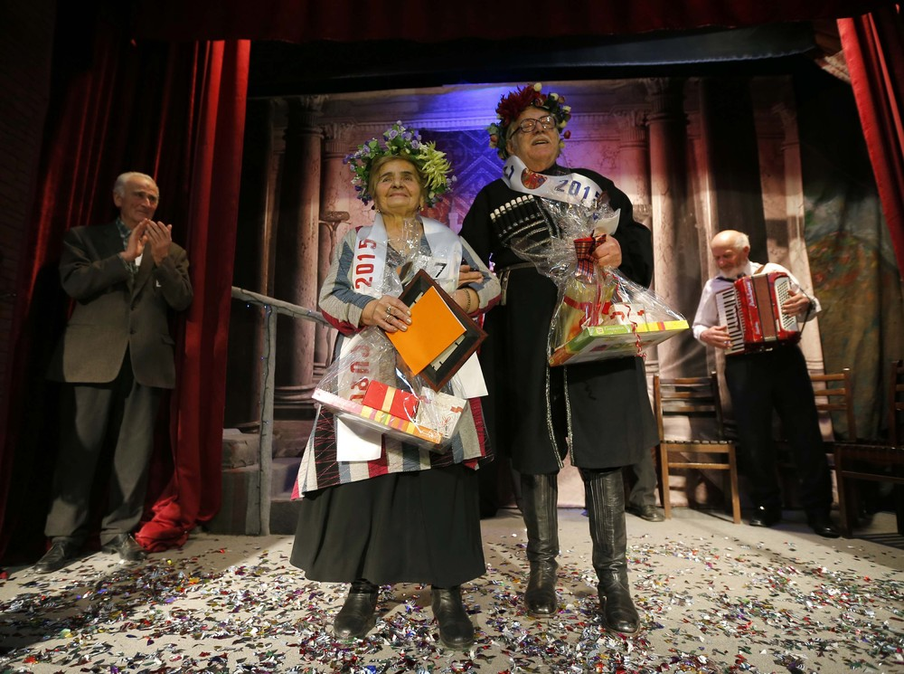 "The ""Super Grandmother and Super Grandfather"" Contest in Tbilisi"