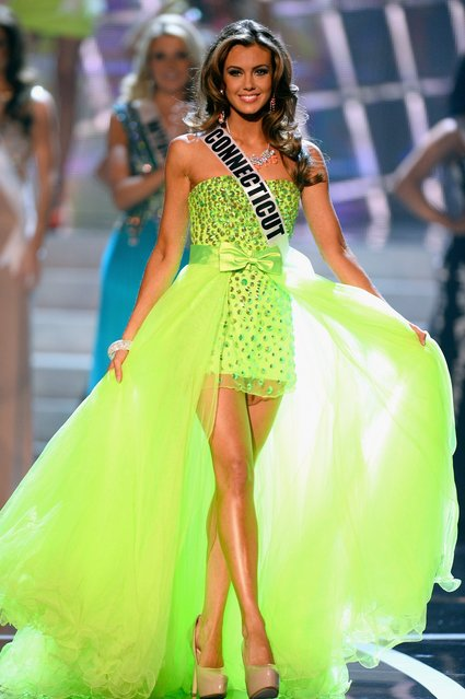 Miss Connecticut USA Erin Brady walks onstage during the 2013 Miss USA pageant at PH Live at Planet Hollywood Resort & Casino on June 16, 2013 in Las Vegas, Nevada. Brady went on to be crowned the new Miss USA.  (Photo by Ethan Miller)
