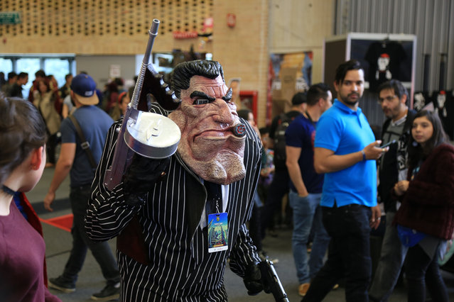 "A participant wearing a costume takes part in the ""Comic Con Colombia 2018"" fair at Corferias Convention Center in Bogota, Colombia on June 11, 2018. (Photo by Lokman Ilhan/Anadolu Agency/Getty Images)"