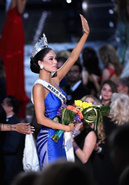 Miss Philippines 2015, Pia Alonzo Wurtzbach, who was mistakenly named as First Runner-up, reacts as she is named the 2015 Miss Universe during the 2015 Miss Universe Pageant at The Axis at Planet Hollywood Resort & Casino on December 20, 2015 in Las Vegas, Nevada. (Photo by Ethan Miller/Getty Images)